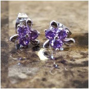 Jewelry - 1ct Amethyst Pierced Post Earrings